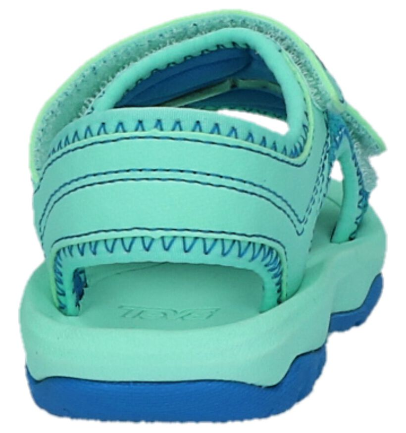 Psyclone Sandales pour bébé en Turquoise en simili cuir (212531)