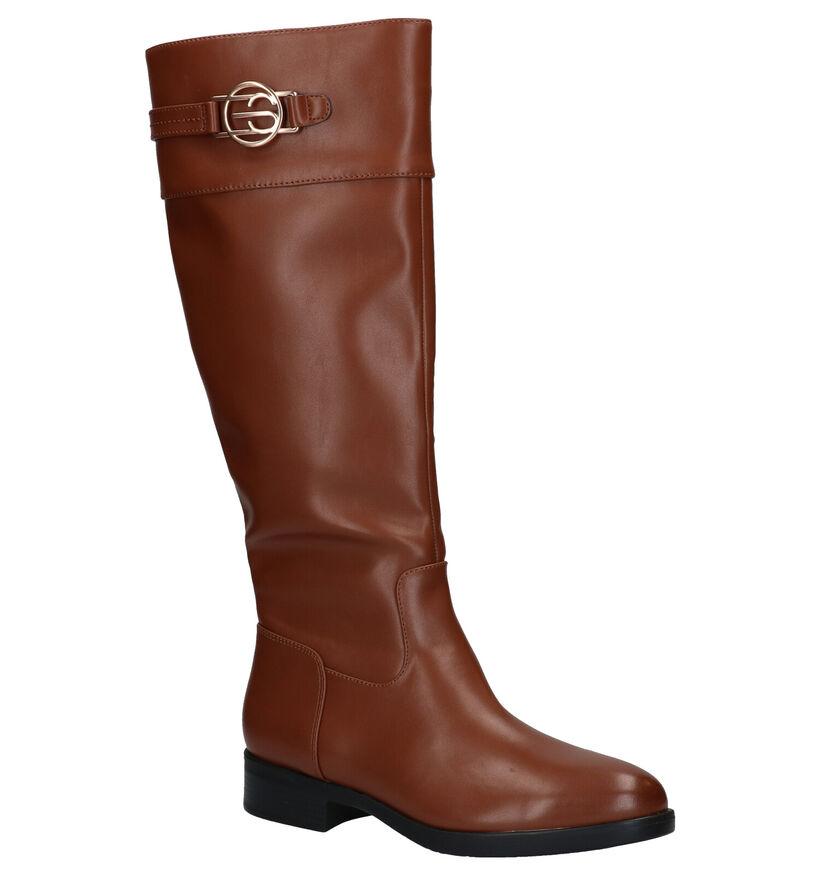 Esprit Jennifer Bottes Longue en Cognac en simili cuir (279818)