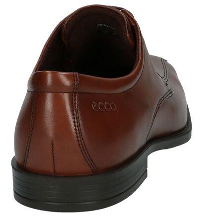 Zwarte Geklede Veterschoen ECCO Edinburgh, Cognac, pdp