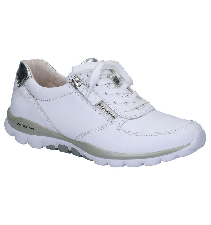 Gabor Rollingsoft Chaussures basses en Blanc en cuir (265828)