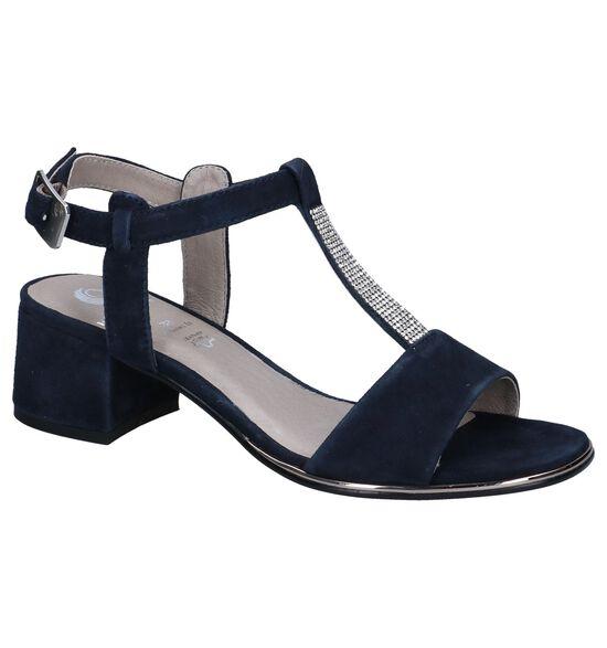 Be Natural Sandales à talons en Bleu foncé