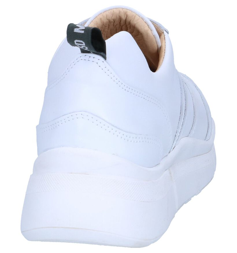 Witte Sneakers Deabused in leer (263733)