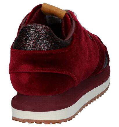 Pepe Jeans Baskets basses en Rouge foncé en velours (225526)