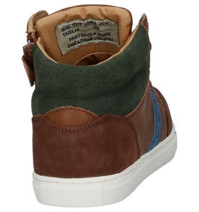 Pantofola d'Oro Monza Gagazzi Cognac Hoge Sneakers in kunstleer (224215)