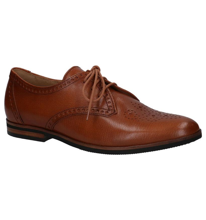 Gabor Best Fitting Chaussures à lacets en Cognac en cuir (282362)