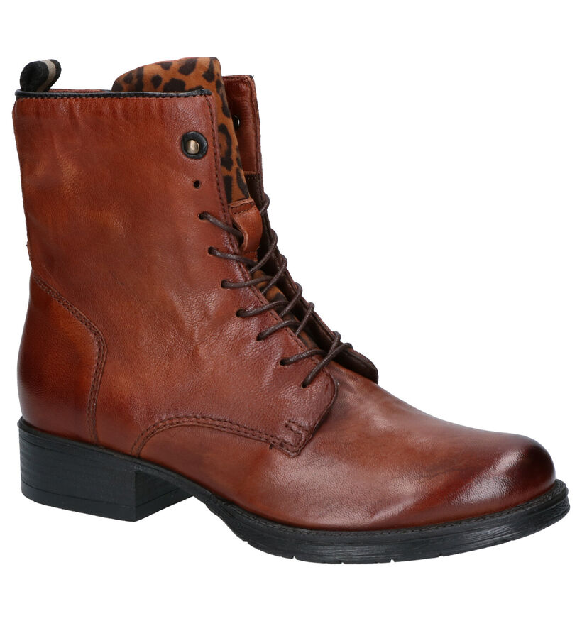 Mjus Cognac Boots in leer (255138)