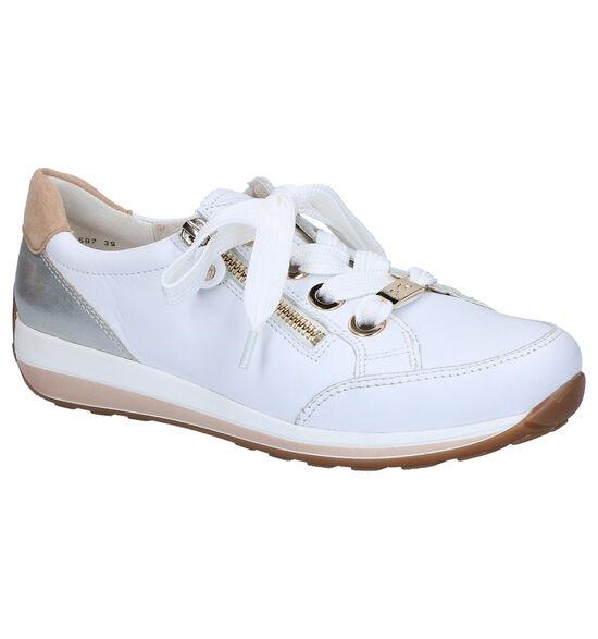 Ara Osaka Witte Lage Sneakers