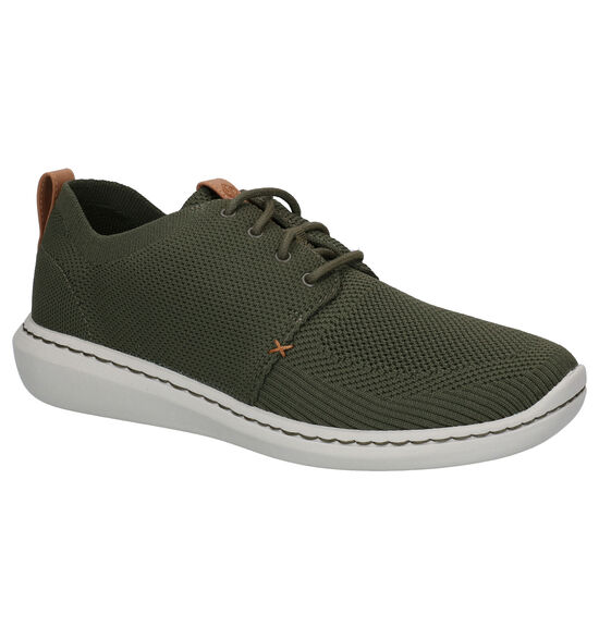 Clarks Step Urban Mix Chaussures basses en Vert kaki