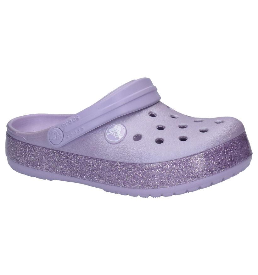 Crocs Crocband Glitter Nu-pieds en Violet en synthétique (255720)