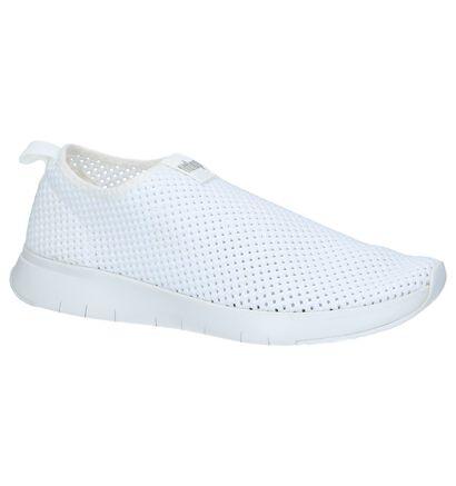 Zwarte Slip-on Sneakers FitFlop Airmesh , Wit, pdp