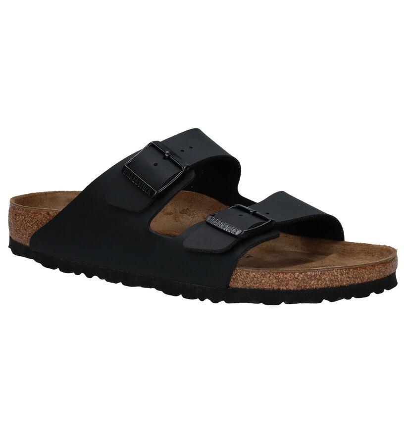 Birkenstock Arizona Nu-pieds en Noir en simili cuir (213368)