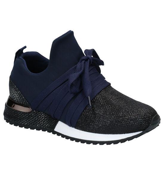 La Strada Blauwe Slip-on Sneakers