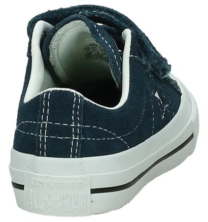 Donker Blauwe Sneakers Converse One Star, Blauw, pdp