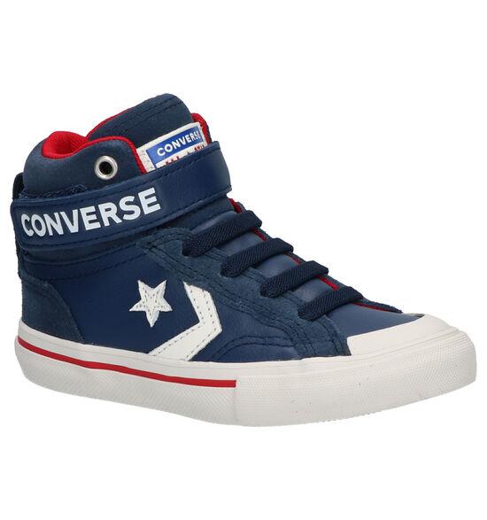 Converse Pro Blaze Strap Hi Baskets en Bleu