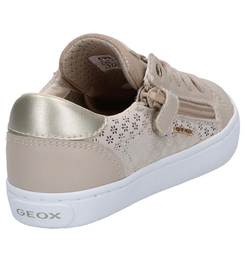 Geox Zilveren Veterschoenen in leer (265763)