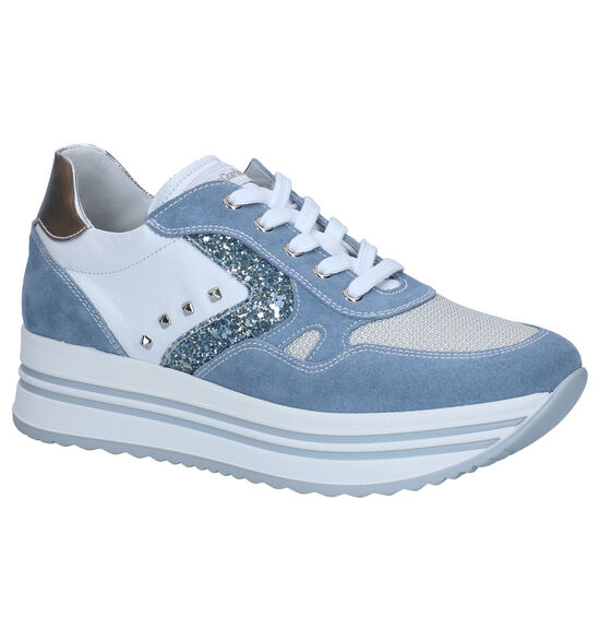 NeroGiardini Chaussures à lacets en Bleu clair