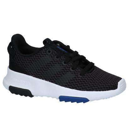 adidas Cloudfoam Racer TR K Baskets en Bleu en textile (221645)
