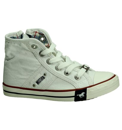 Mustang Witte Rits/Veter Sneakers, Wit, pdp