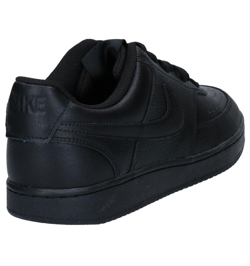 Nike Court Vision Zwarte Sneakers in kunstleer (283892)