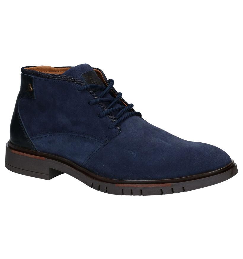 Bullboxer Chaussures hautes en Bleu foncé en nubuck (281837)