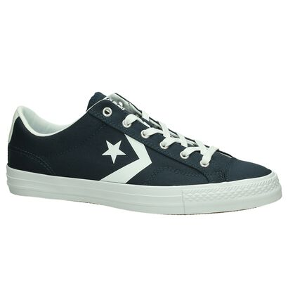 Zwarte Lage Sportieve Sneakers Converse Star Player Ox, Blauw, pdp