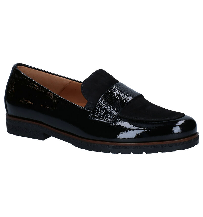 Gabor Easy Walking Zwarte Loafers in daim (282274)