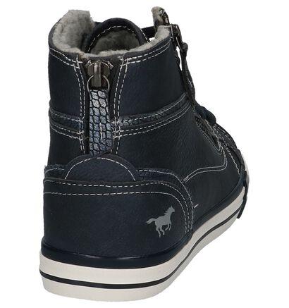 Donkergrijze Hoge Sneakers Mustang in imitatieleer (223239)