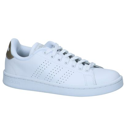 adidas Advantage CL Witte Sneakers in leer (237075)