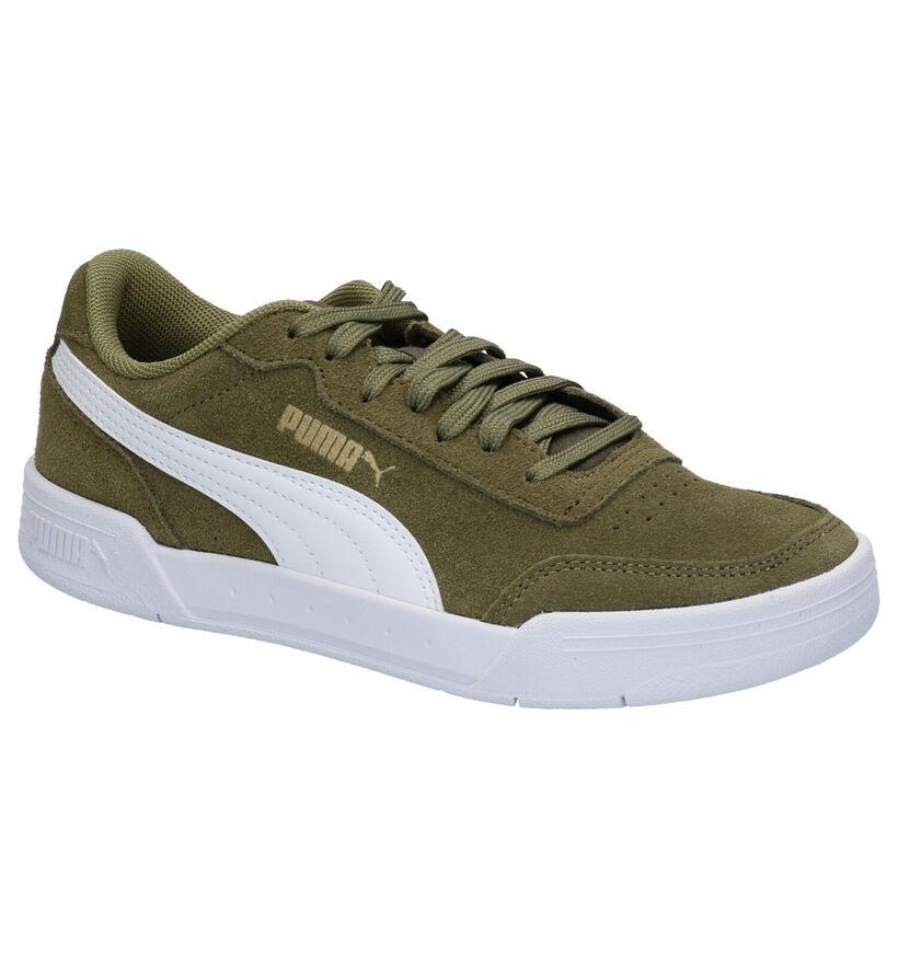 Puma Caracal Kaki Sneakers in daim (265642)
