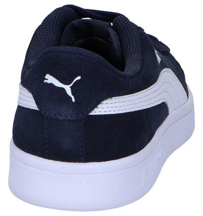 Donkerblauwe Sneakers Puma Smash v2 SD, Blauw, pdp