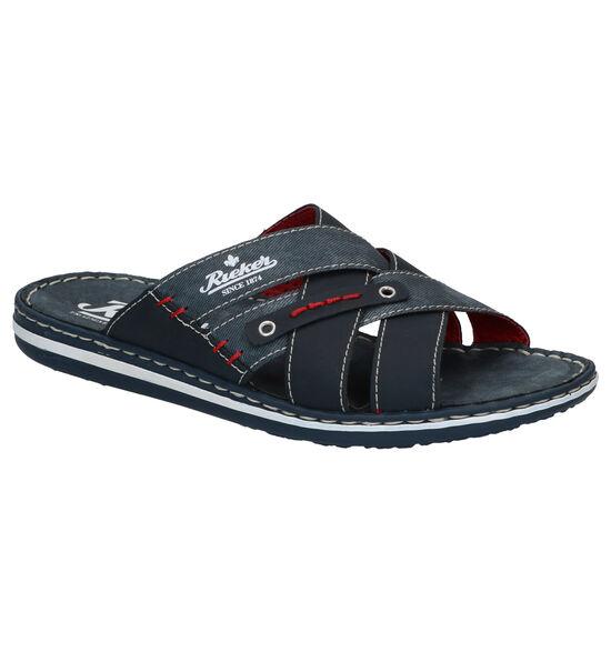 Rieker Blauwe Slippers