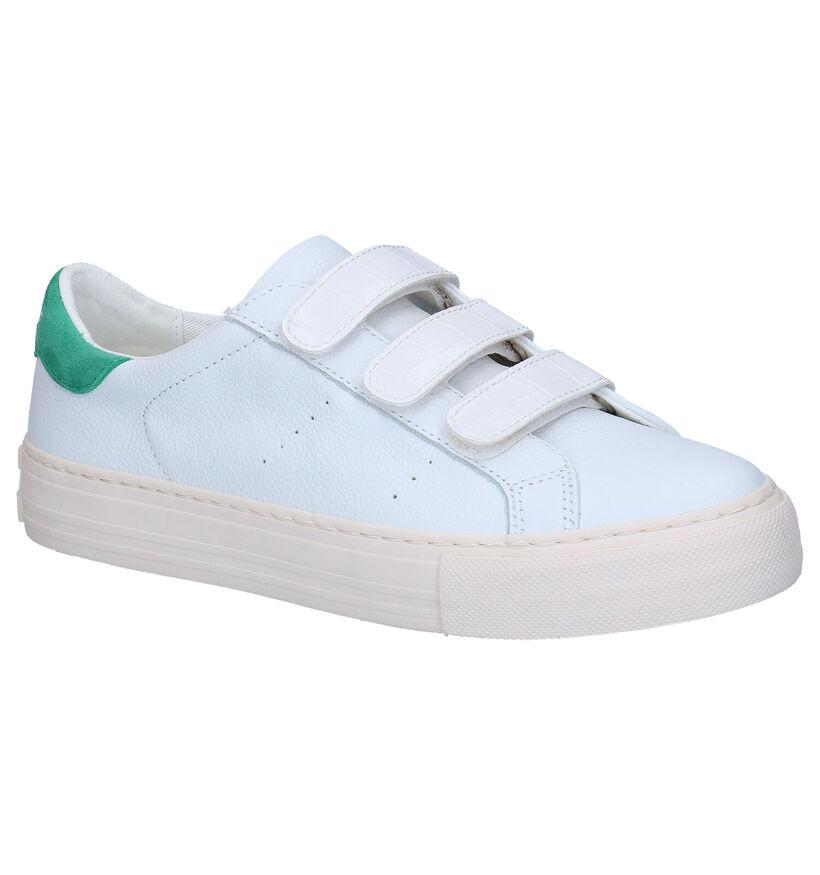No Name Arcade Straps Witte Sneakers in kunstleer (290004)