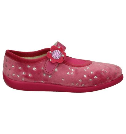 Roze Bellamy Prune Pantoffels in stof (206408)