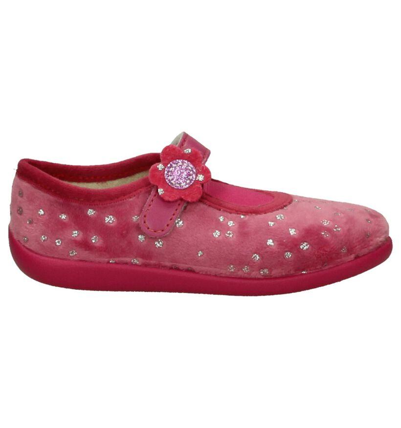 Roze Bellamy Prune Pantoffels in stof (206408)