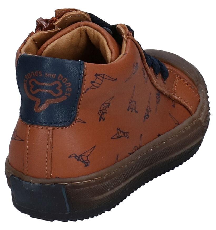 STONES and BONES Vome Chaussures enfants en Bleu en cuir (280416)
