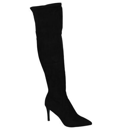 Steve Madden Lacie Zwarte Overknee Soklaarzen, Zwart, pdp