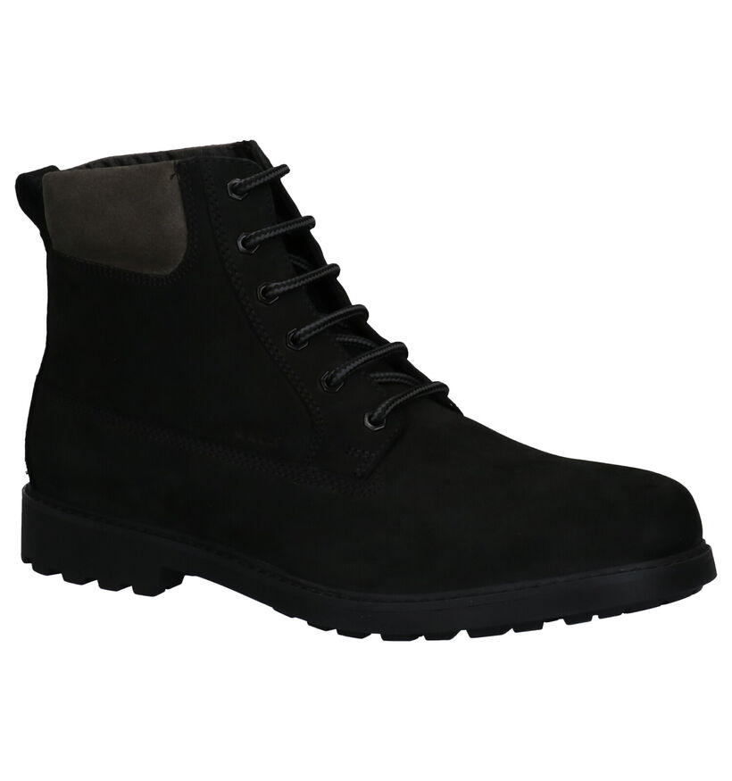 Geox Zwarte Boots in nubuck (264089)