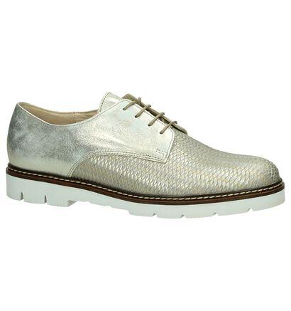 Gabor Chaussures à lacets en Argent en cuir (195509)