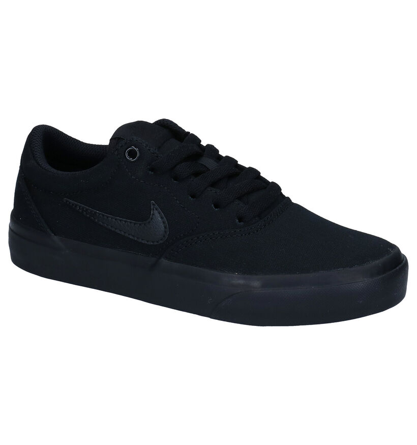 Nike SB Charge Canvas Zwarte Skate Sneakers in stof (274799)