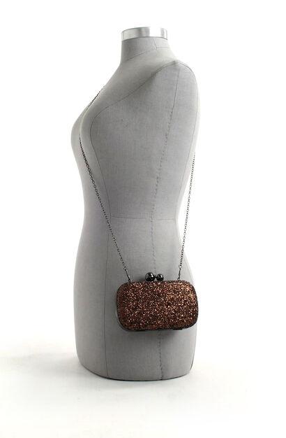 Zwarte Clutch met Glitter Bulaggi, Brons, pdp