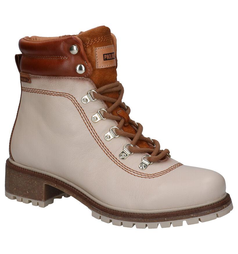 Pikolinos Beige Boots in leer (283631)