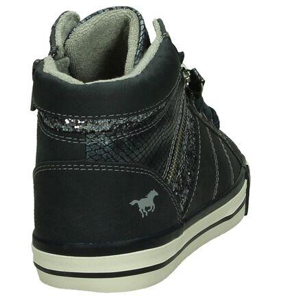Blauwe Hoge Sportieve Sneakers, Blauw, pdp