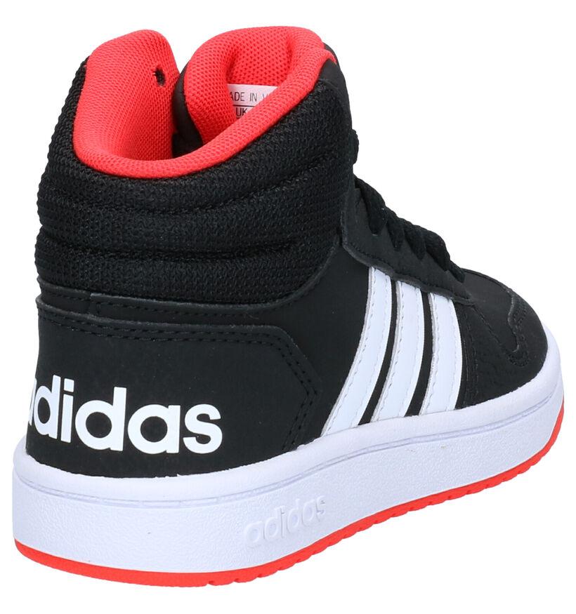 Adidas Hoops Baskets en Noir en simili cuir (262061)
