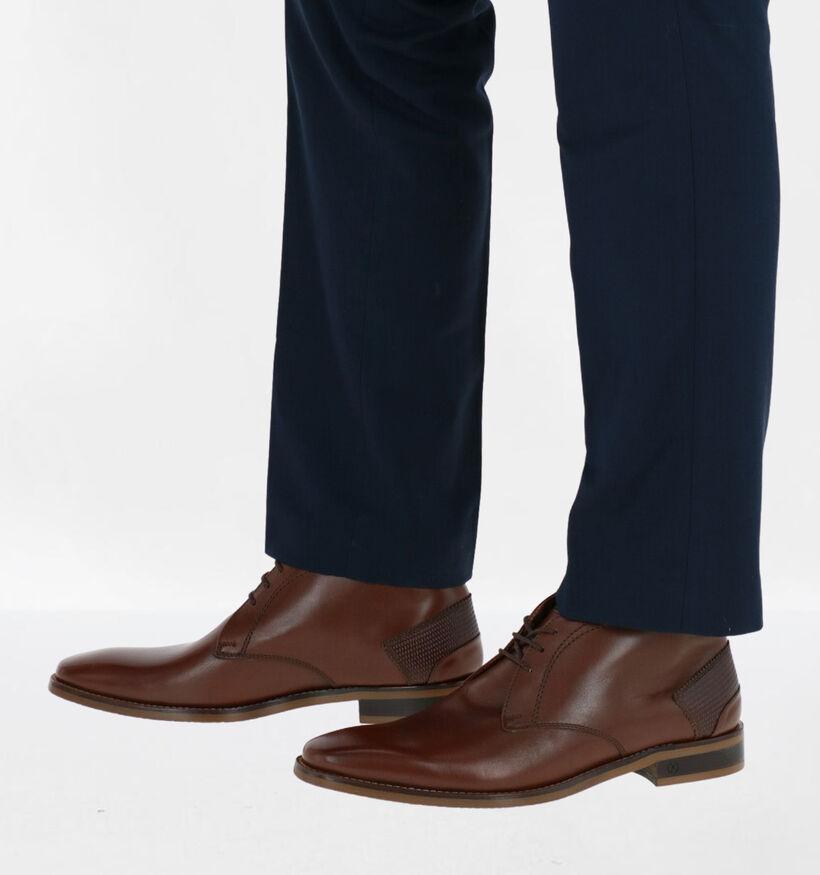 Ambiorix Funnix-a Chaussures Habillées en Brun en cuir (283932)
