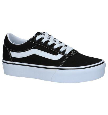 Vans Ward Platform Zwarte Skateschoenen, Zwart, pdp