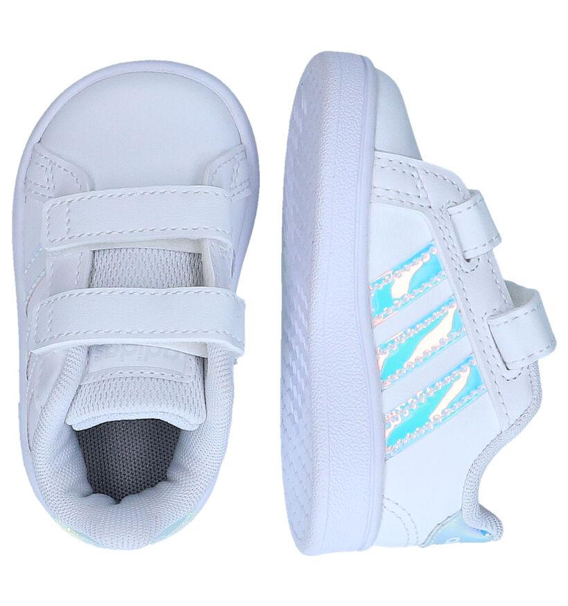 Grand Court Baskets pour bébé en Blanc en simili cuir (284521)