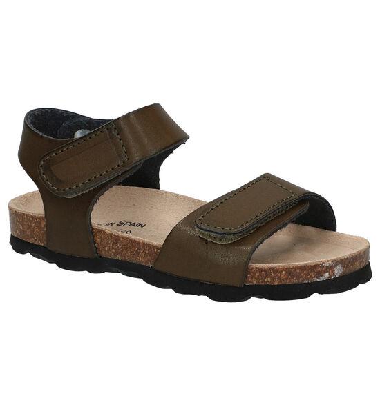 Made in Spain Sandales en Vert kaki