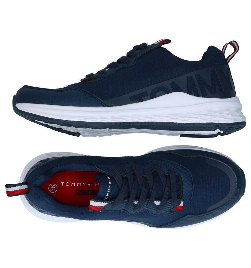 Tommy Hilfiger Blauwe Sneakers in kunstleer (285676)