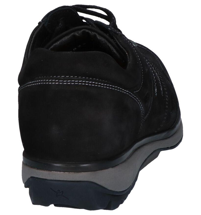 Zwarte Veterschoenen Xsensible New York in nubuck (261138)