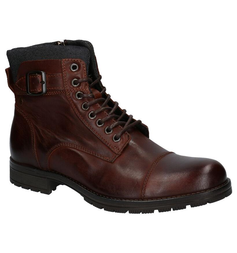 Jack & Jones Bruine Boots in leer (256275)